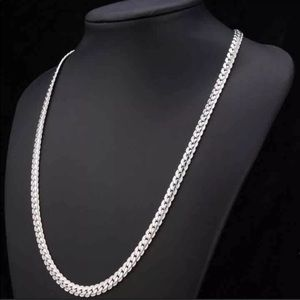 New 18K Real White Gold Plated Necklace